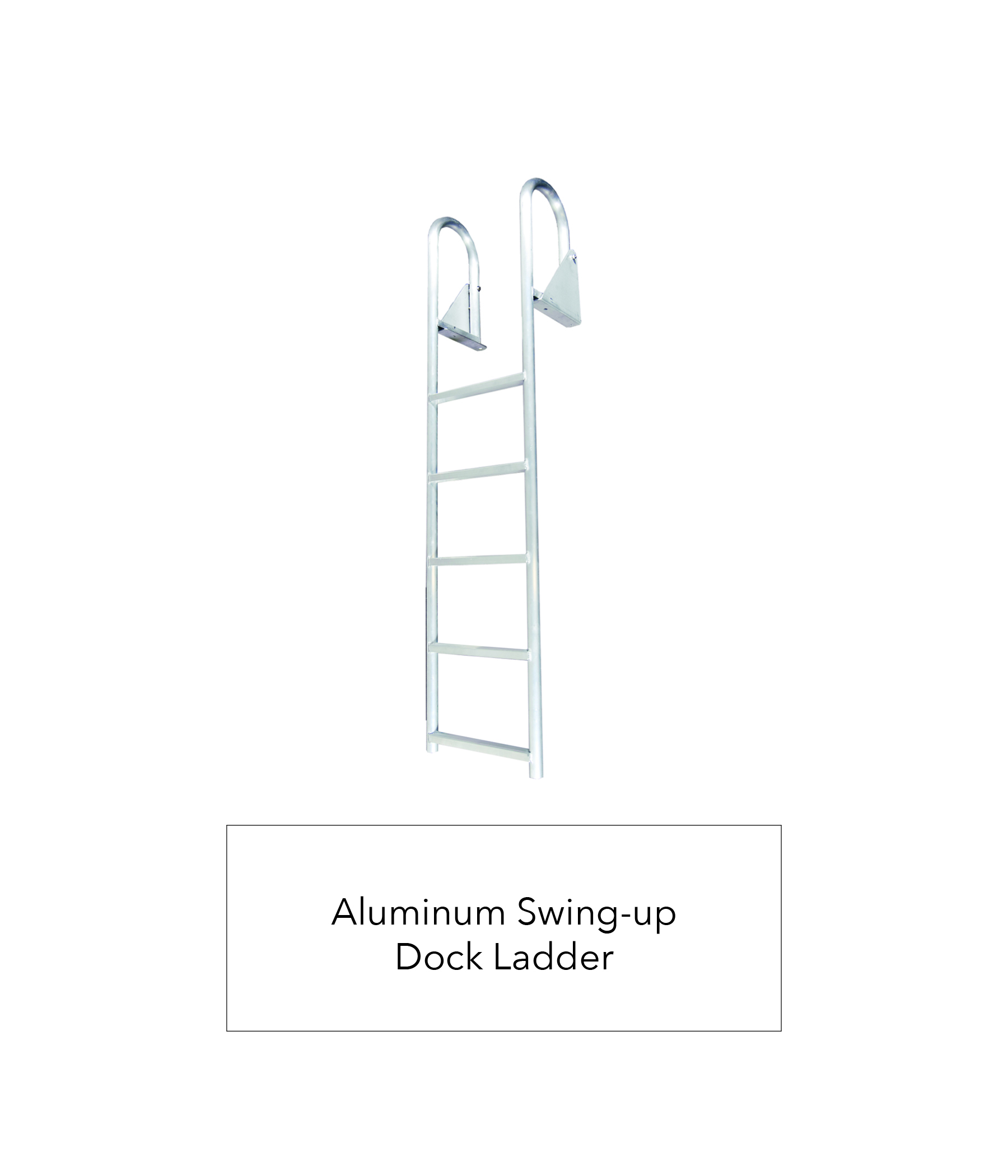 Aluminum Swing-up Dock Ladder — K & R Manufacturing
