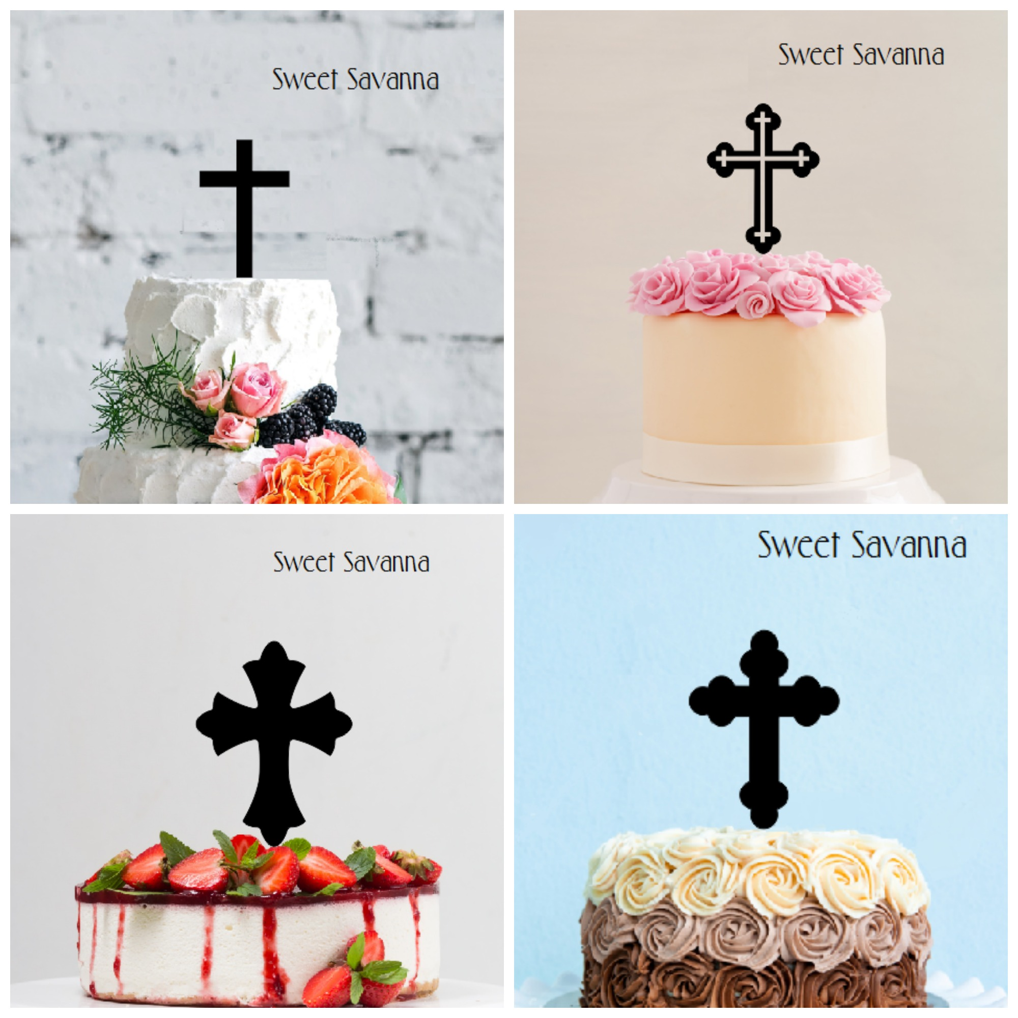 Small Cross Cake Topper 3 5 High 9 Options To Choose From Sweet Savanna Cookie Cutters