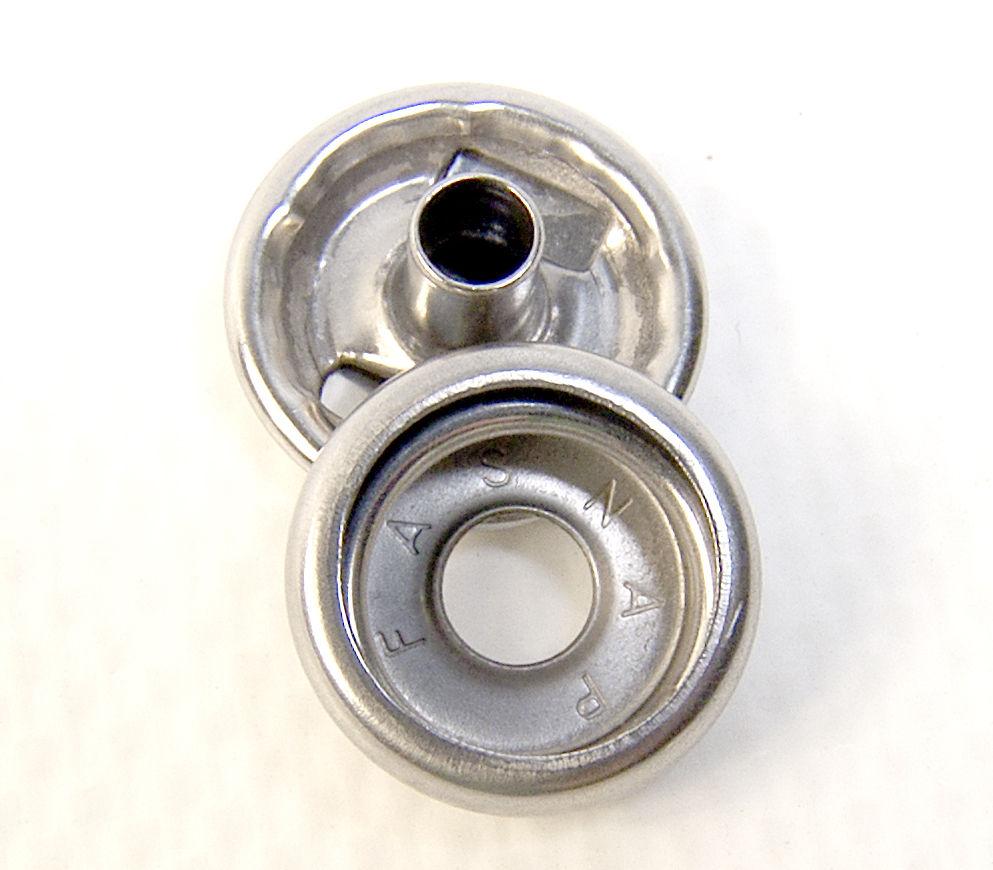Line 24 Standard Size 20 Piece Set Snap Stainless Steel Button /& Socket