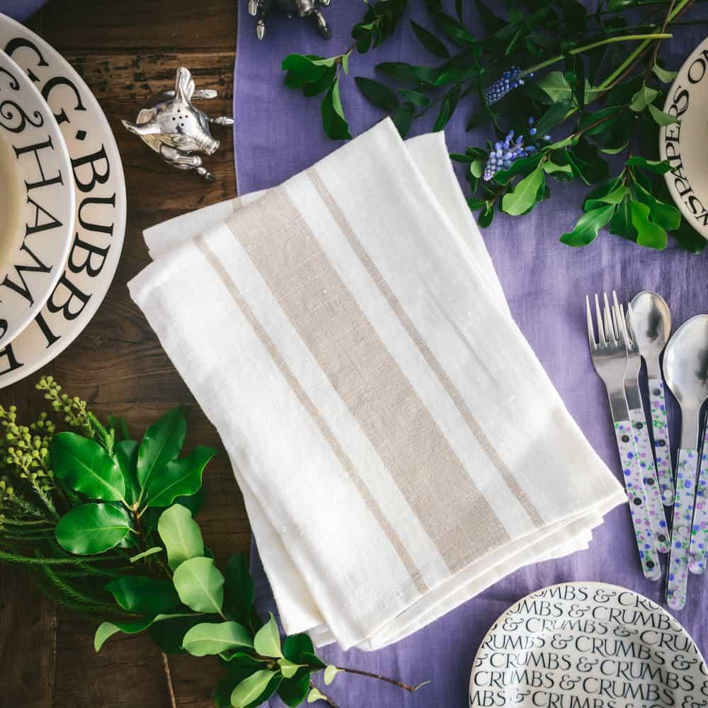 Libeco Kalahari Stripe Linen Napkins — Weston Table