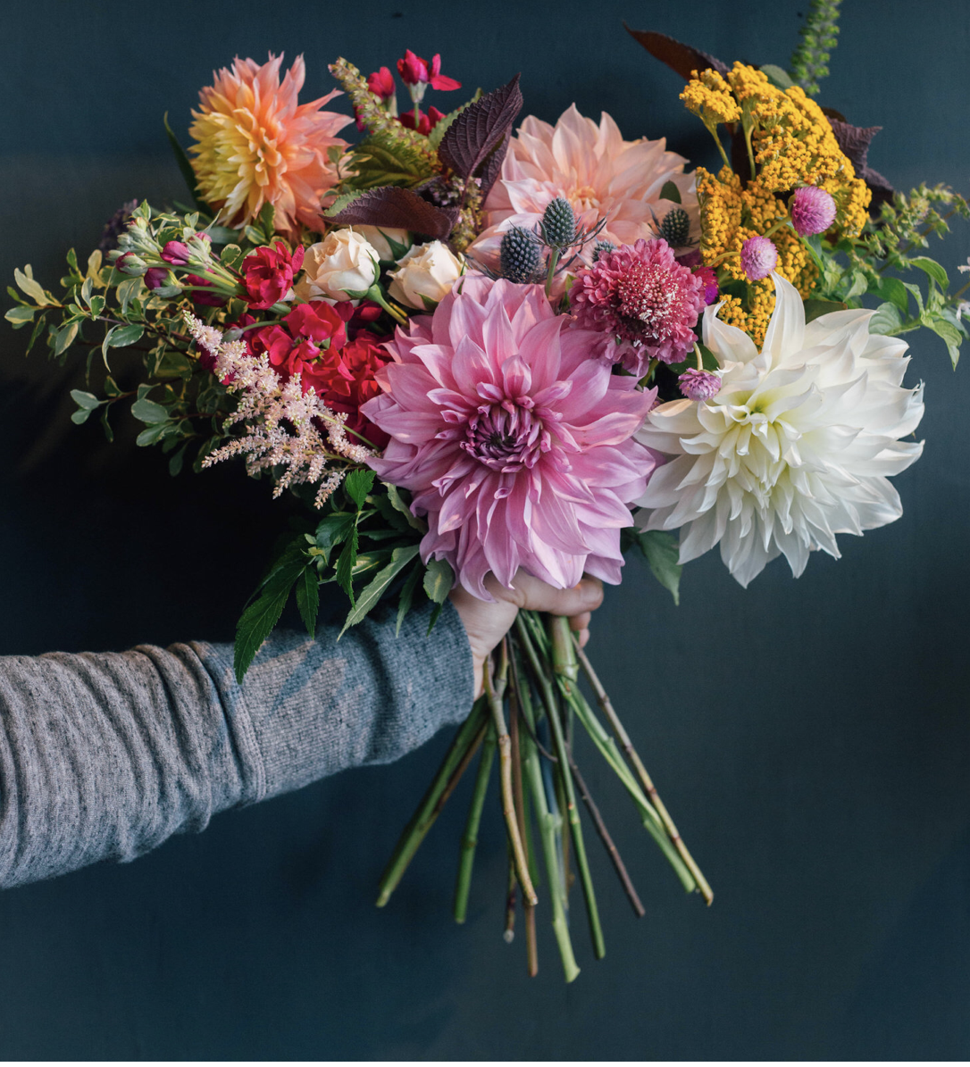 Seasonal Variety Wrapped Bouquet Flower Furbish