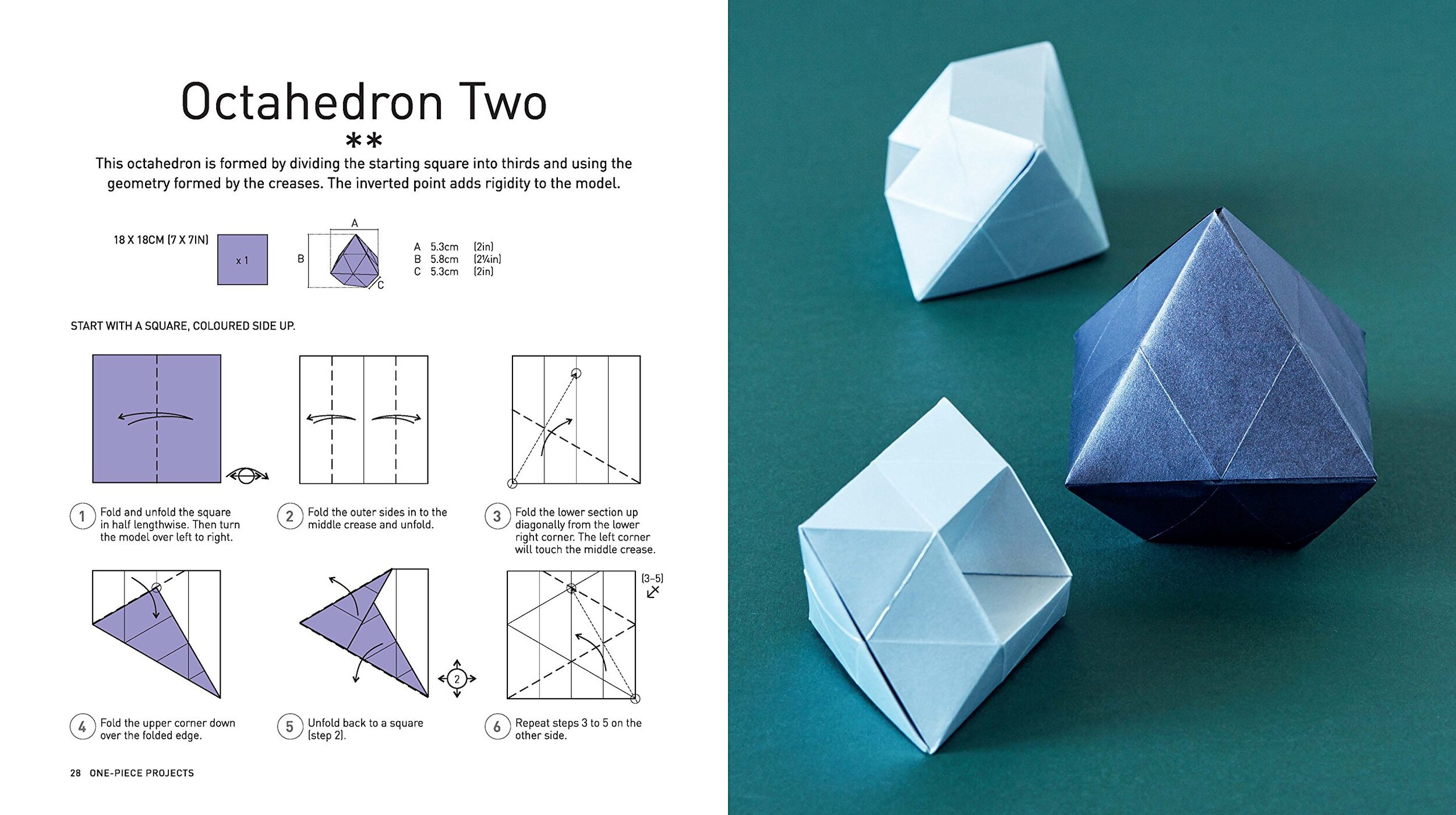 Modular Origami: How to Make a Cube, Octahedron & Icosahedron from ... | 561x1000