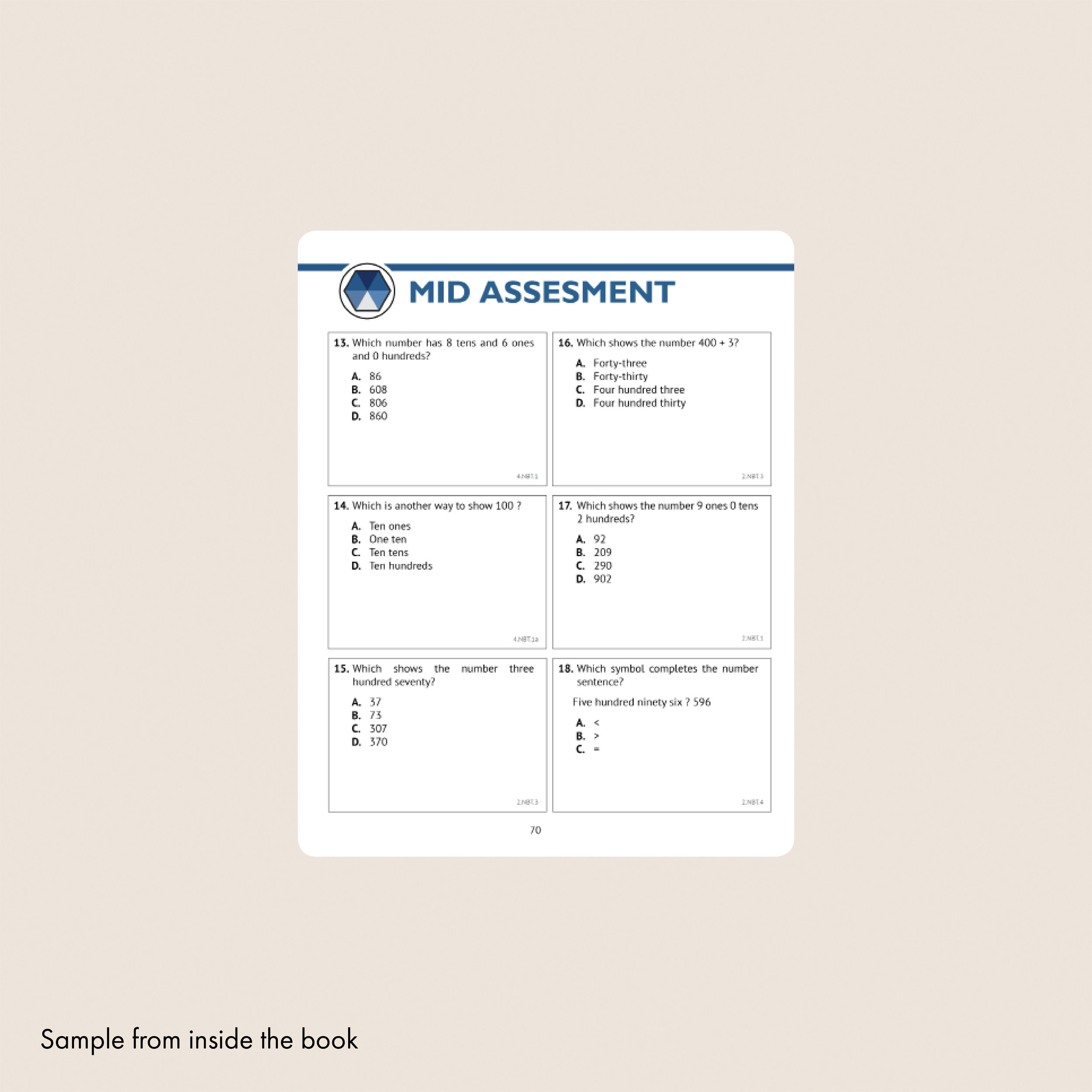 2nd Grade Common Core Math Workbook (Multiple Choice) — Argo Brothers