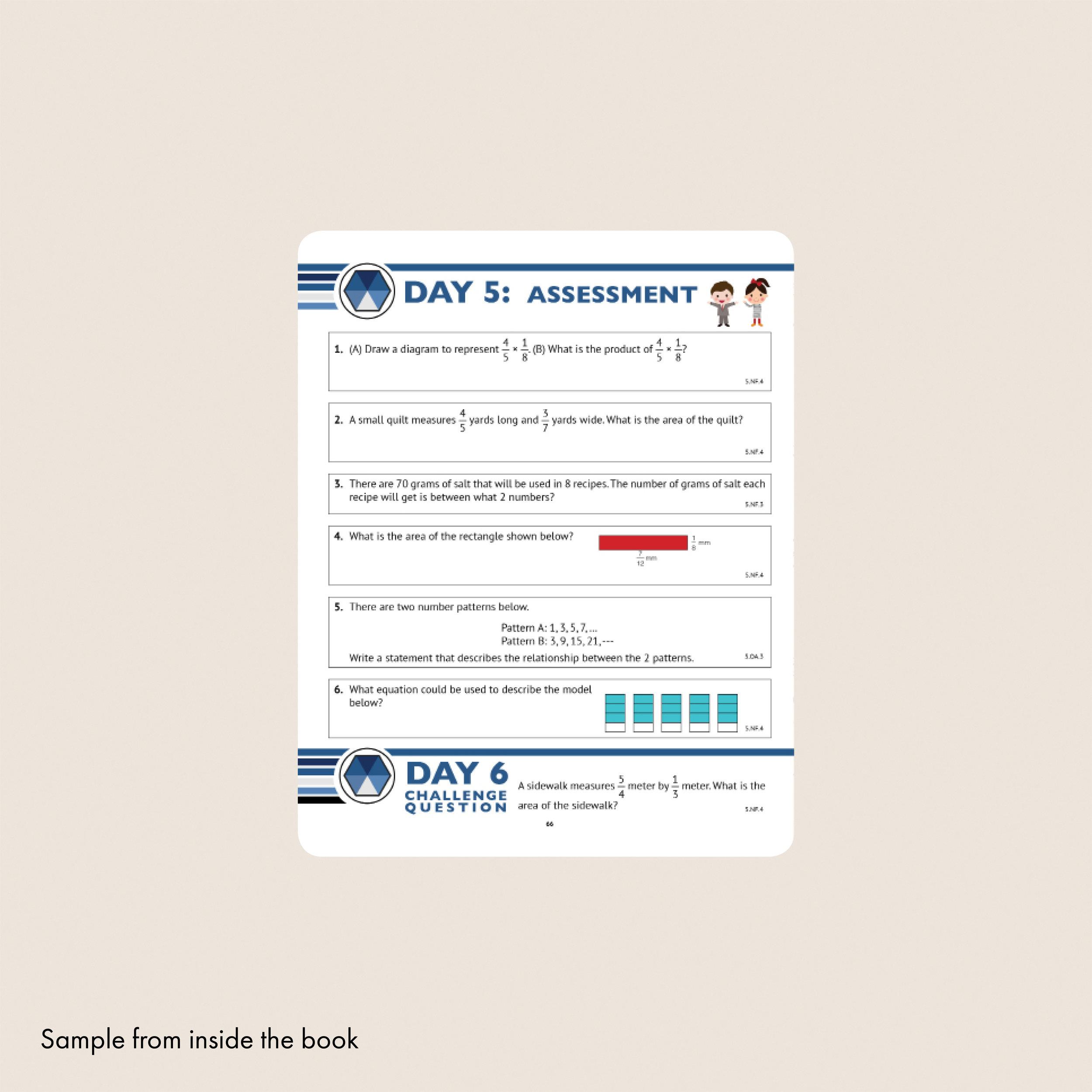 5th Grade Common Core Math Workbook (Free Response) — Argo Brothers