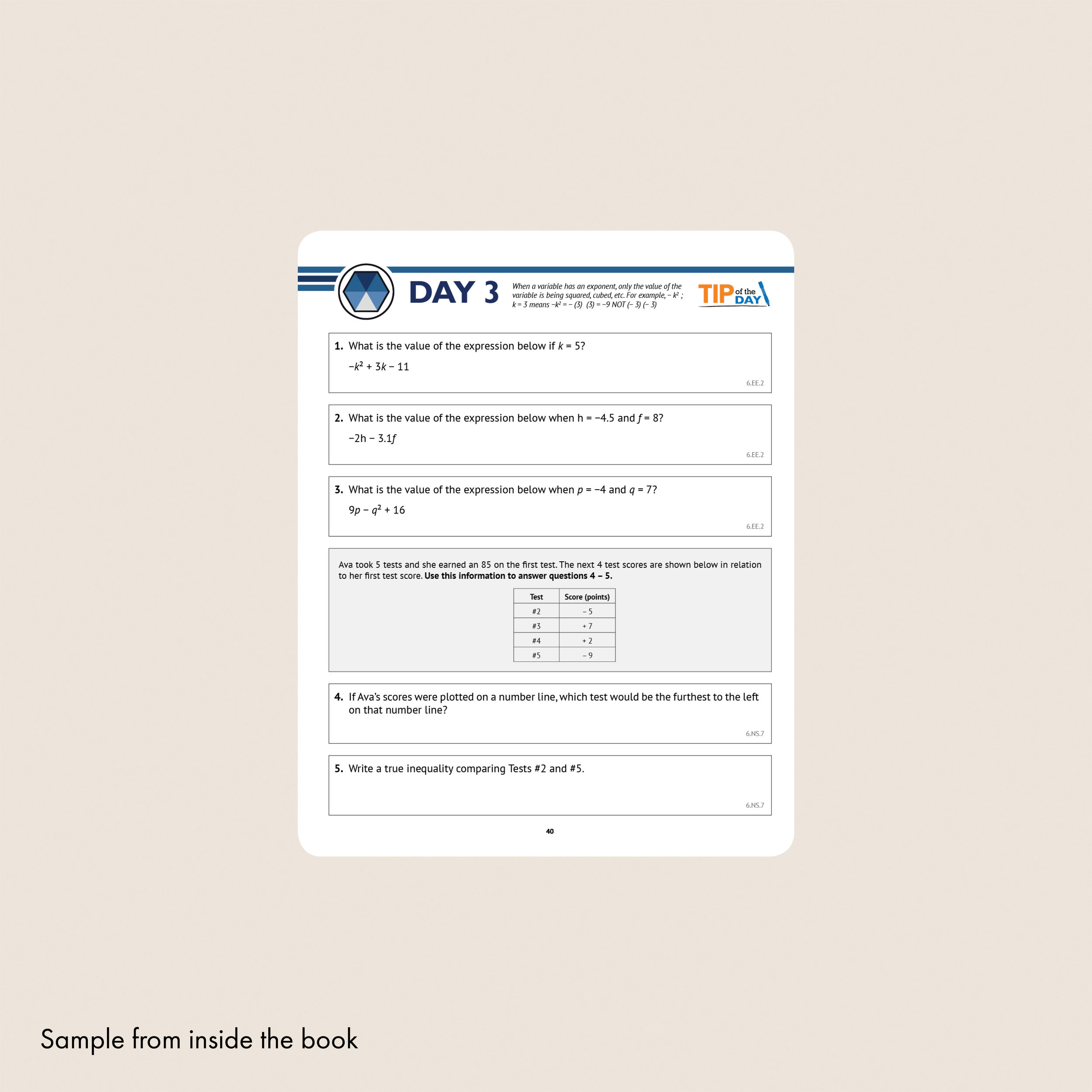 6th Grade Common Core Math Workbook (Free Response) — Argo Brothers