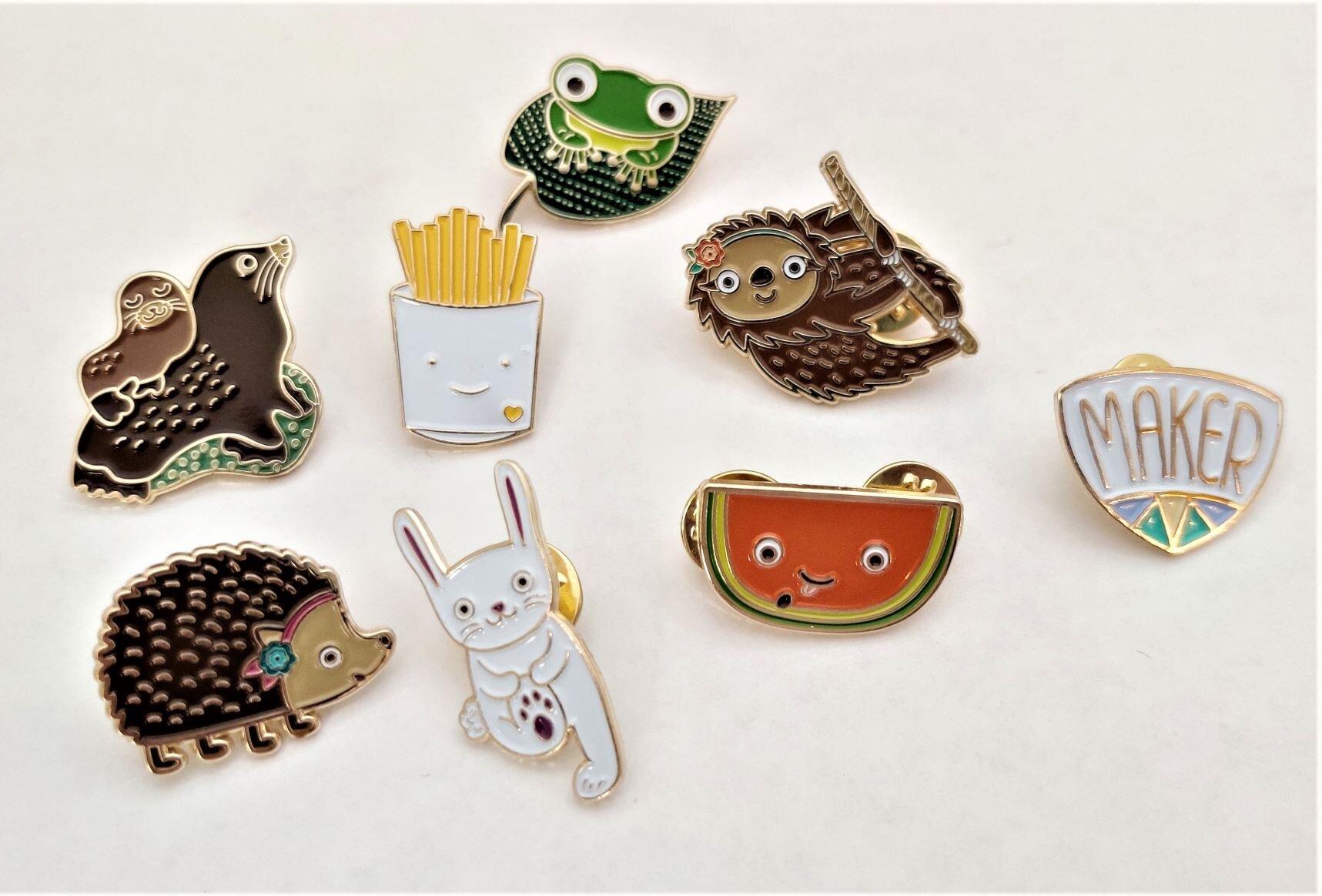 Night Owl Paper Goods Sloth Enamel Lapel Pin