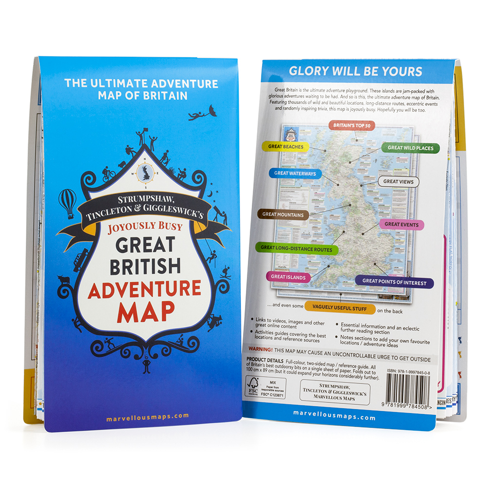 STG\'s Joyously Busy Great British Adventure Map — ST&G\'s Marvellous Maps