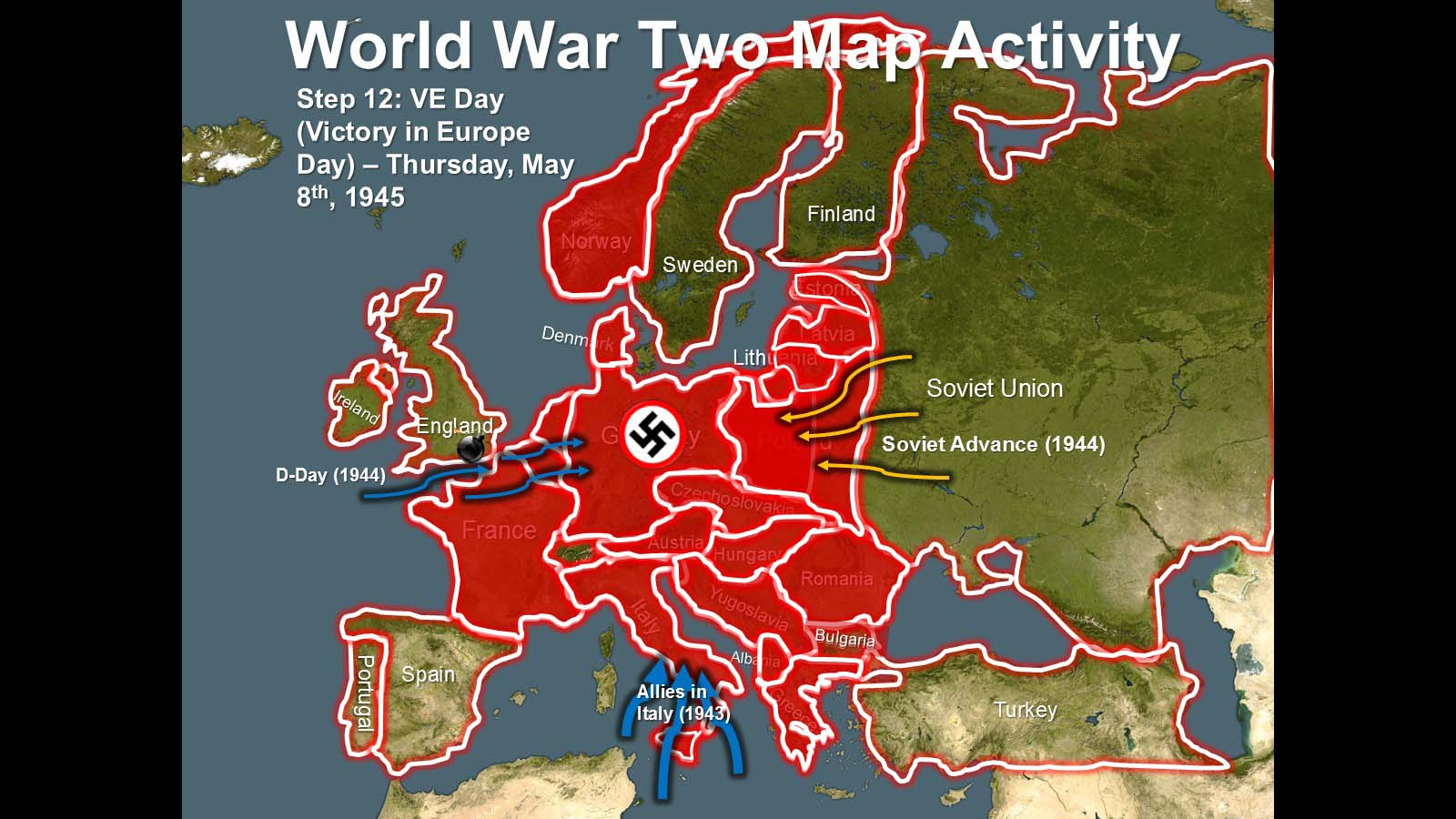 World War Two Map Activities - trace Nazi expansion, European & Pacific  Theaters (with blank map handouts) — Greg\'s History Lessons- Making History  ...