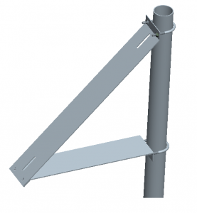 Universal Light-Weight Pole Mounting Bracket for Solar Panel 20-55W — Tech  My Farm