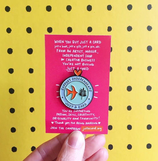 JUST A CARD - Enamel Pin — Just a Card