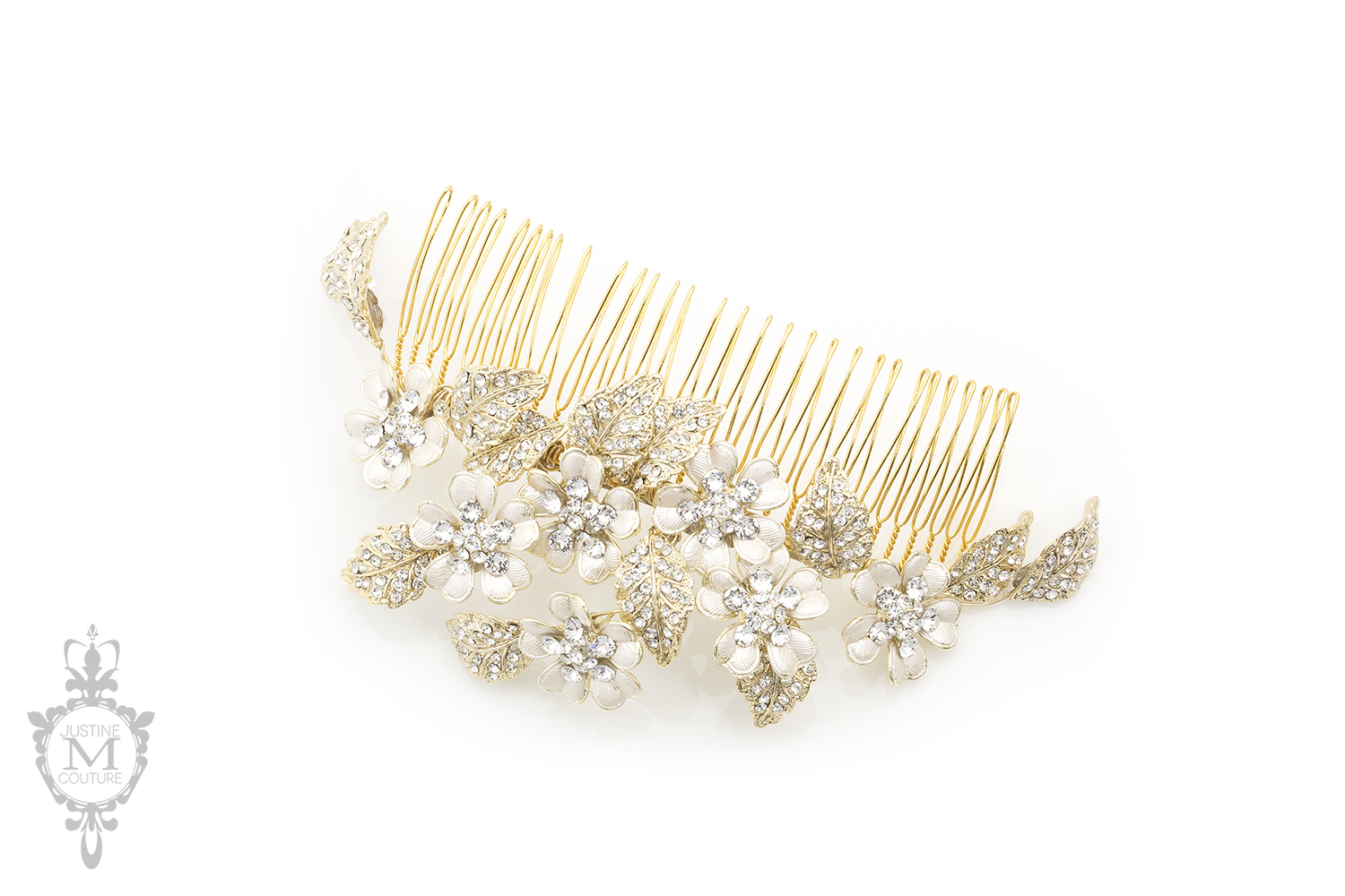 Coraline Headpiece Comb Large Justine M Couture Bridal Veils Jewelry And Accessories