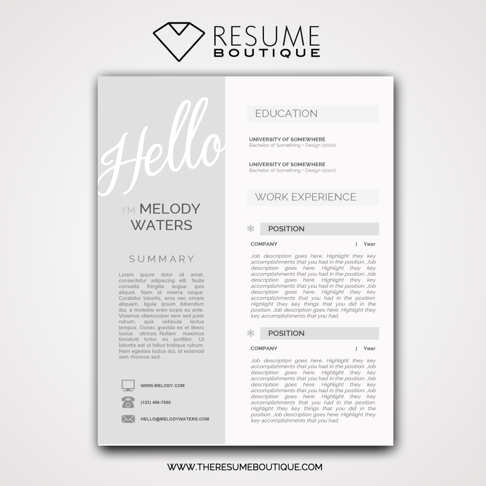Hello Darling The Resume Boutique