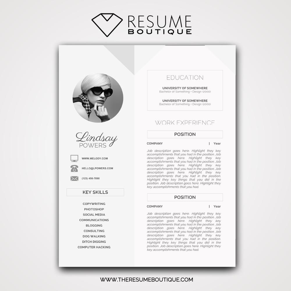 Geometric The Resume Boutique