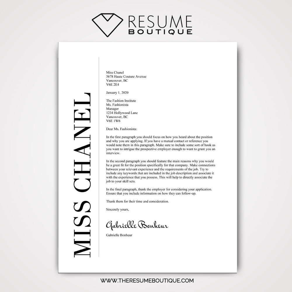 The Chanel Resume Boutique