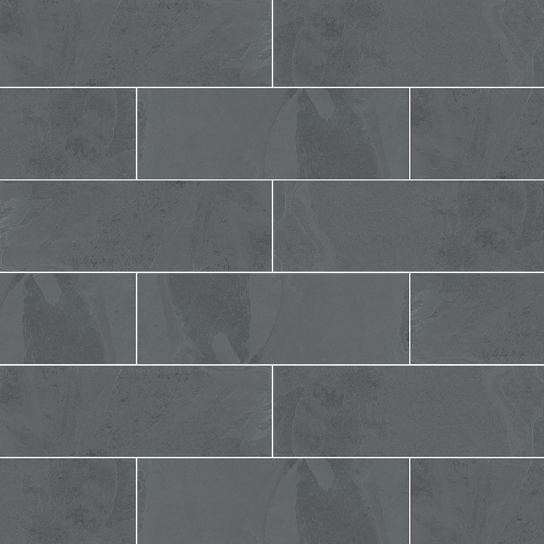 Montauk Black Subway Tile 4x12 75