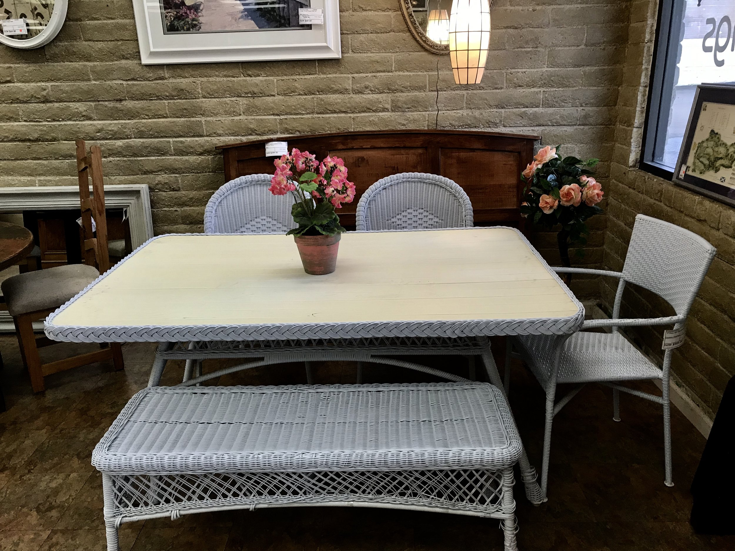 5 Piece Wicker Dining Set — Finders Keepers