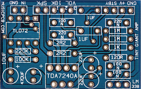 Tiny Giant Amp (PCB only) — MusicPCB