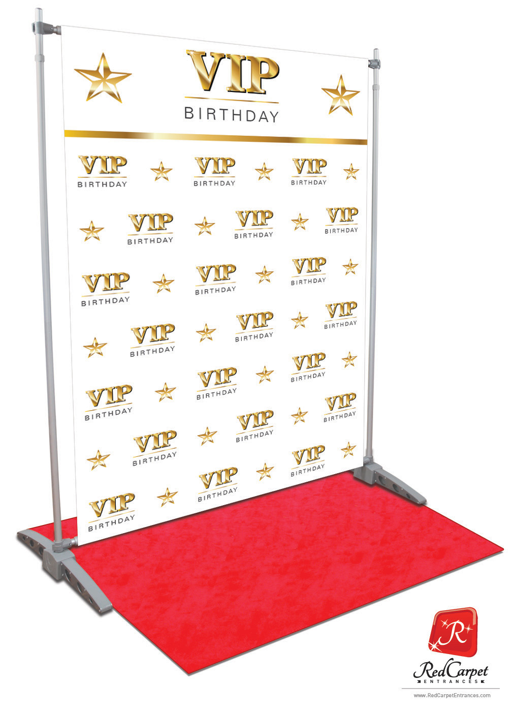 Vip Birthday Backdrop White 5x8 Red Carpet Runner Red Carpet Backdrop Event Shop