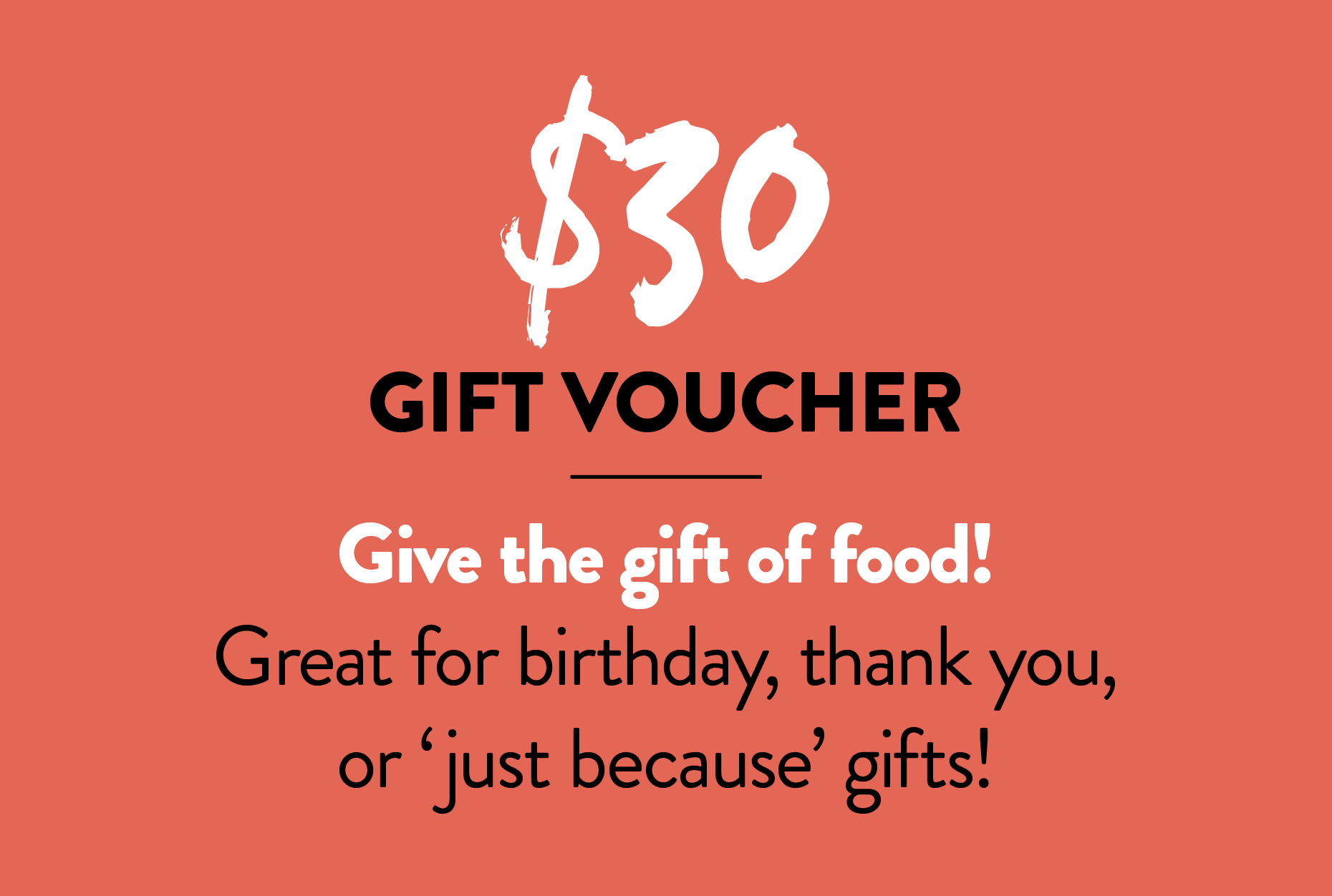 $30 Gift Voucher — The General Food Store