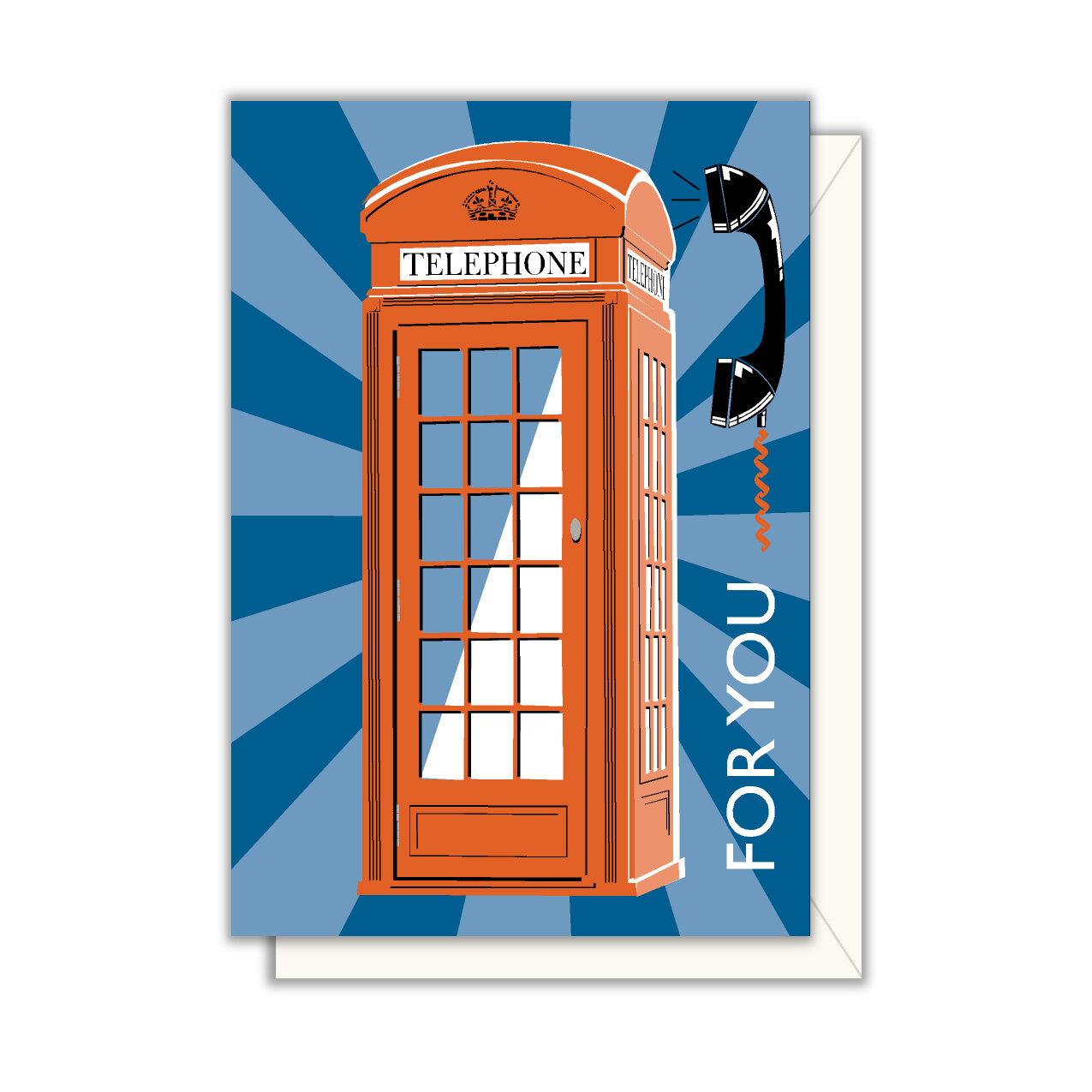 Blank Card Hello Telephone