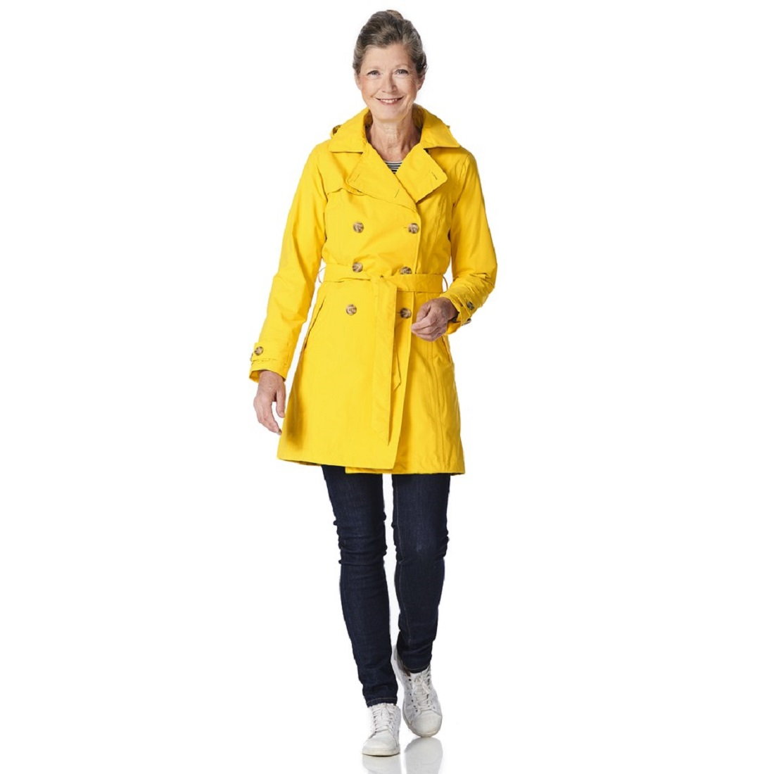 good out x footwear enjoy bottom price Classic Trench Coat with Removable Hood Yellow — HIP IN THE RAIN