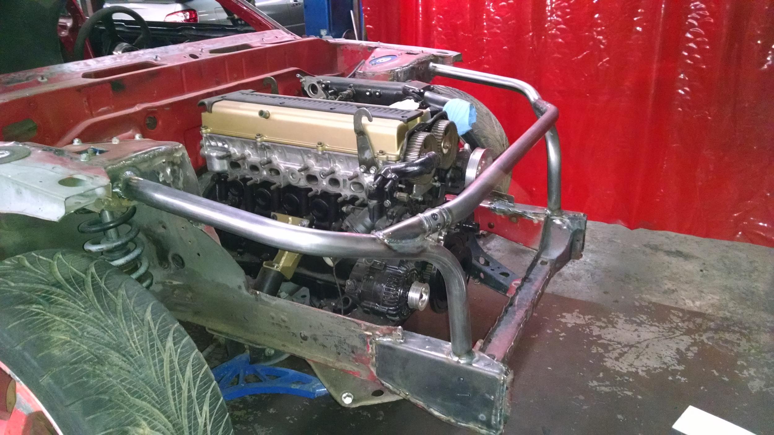 89-99 Nissan 240 SX S13 S14 tube radiator support DIY Kit — Hot Metal Fab