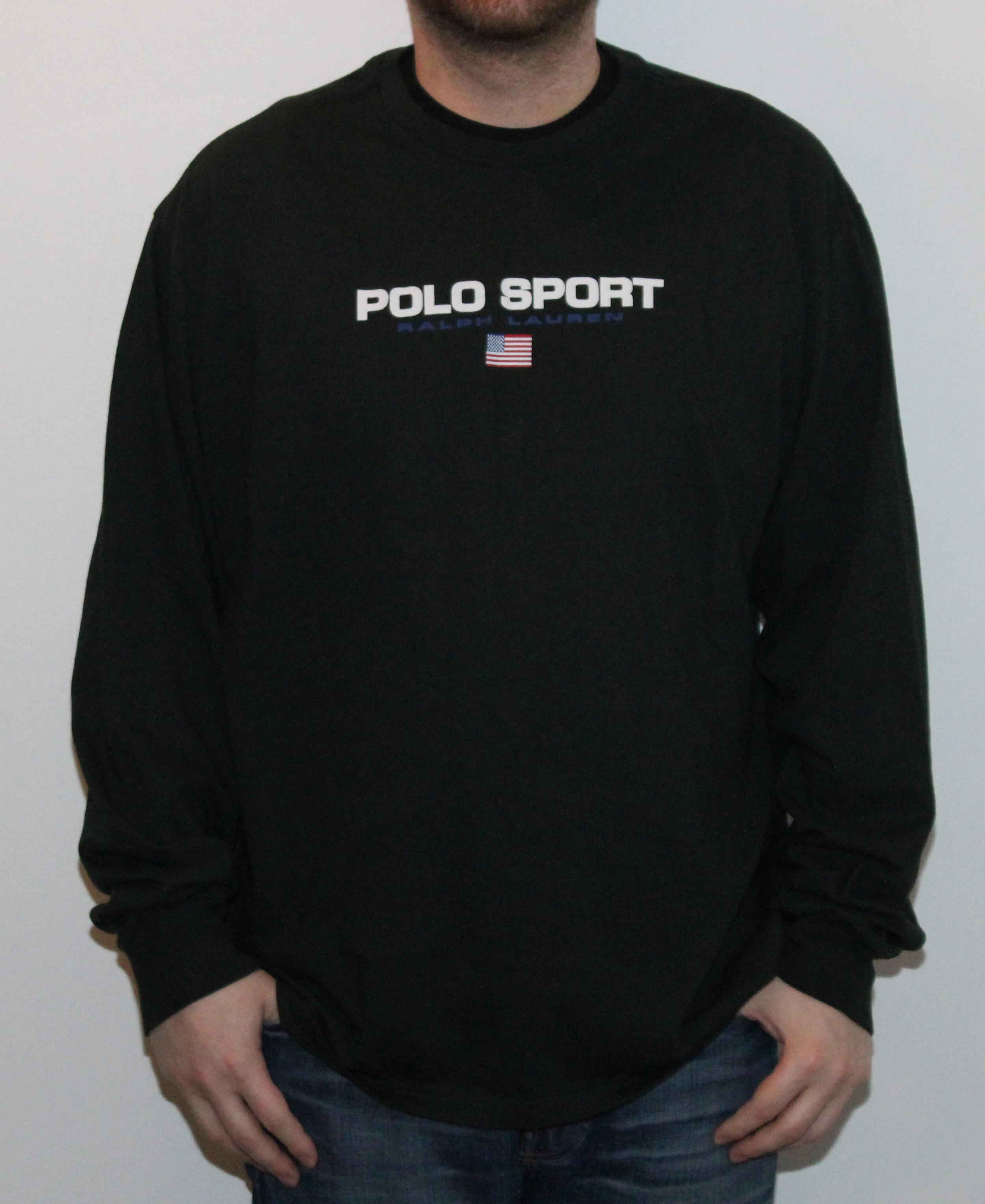 Sport Xl— Roots Shirtsize Ralph Royal Ls Polo Black Lauren Vintage T QxCtshrdB