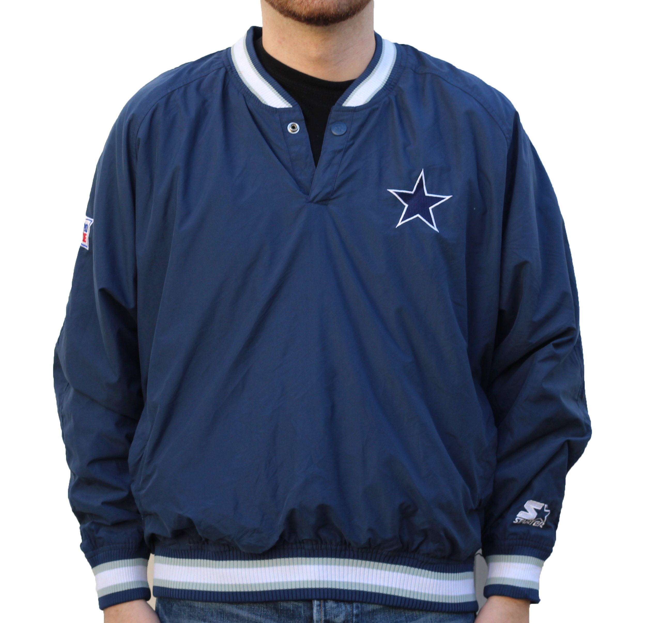 brand new 9ecf6 71a91 Vintage Starter Dallas Cowboys Pullover Windbreaker (Size M) — Roots