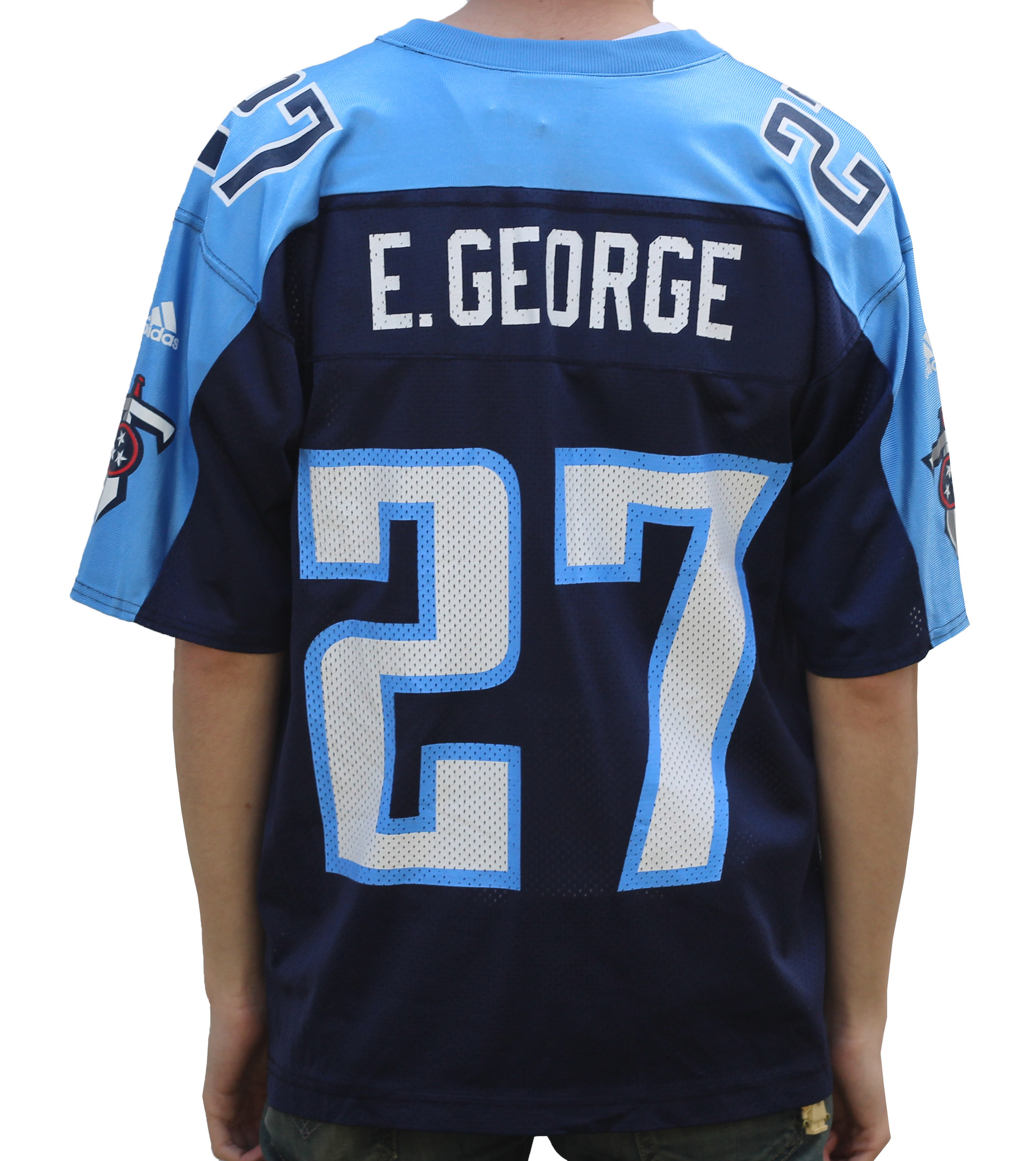 separation shoes 66f62 db7af Adidas Tennessee Titans Eddie George Replica Jersey (Size M) — Roots
