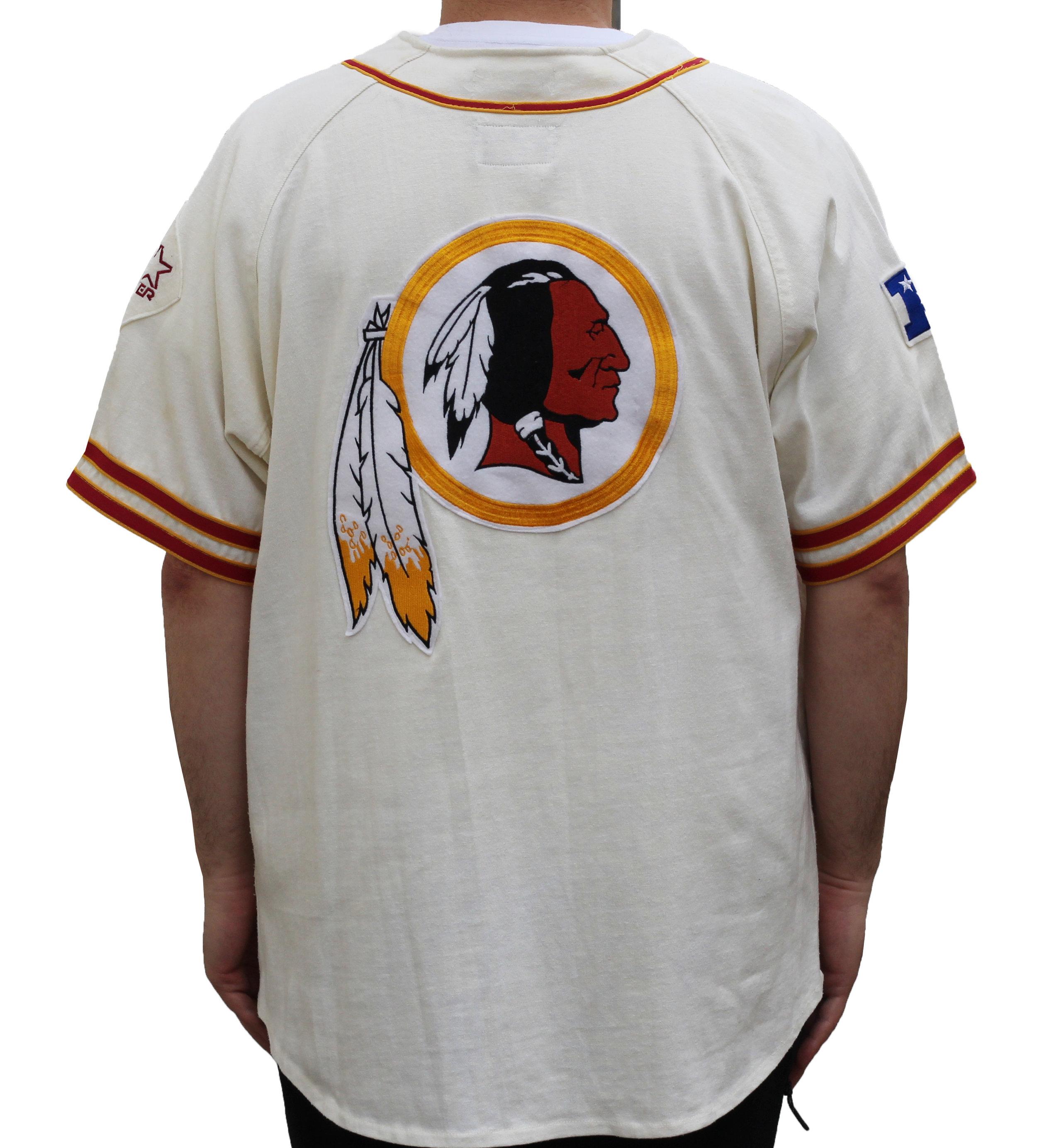 innovative design 784a0 f1a8c Vintage Starter Washington Redskins Baseball Jersey (Size L) — Roots