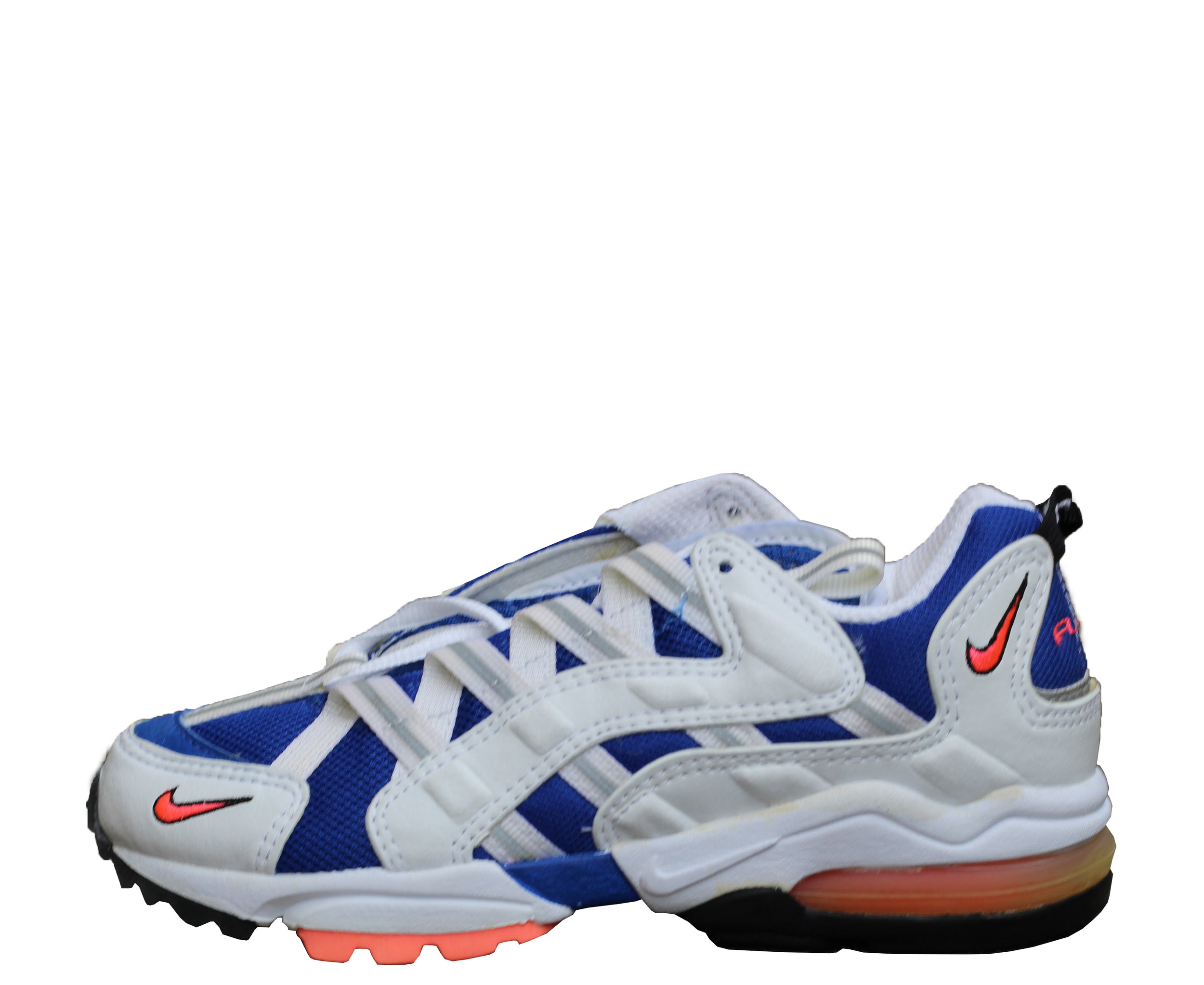 Women`s Nike Air Max Light 3 White / Varsity Royal / Hot Lava (Size 5.5) DS — Roots