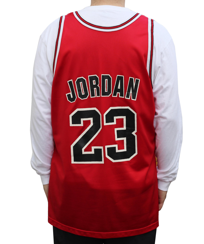 superior quality c8f9b b1d7e Vintage Champion Chicago Bulls Red Jordan Jersey (Size 52) — Roots