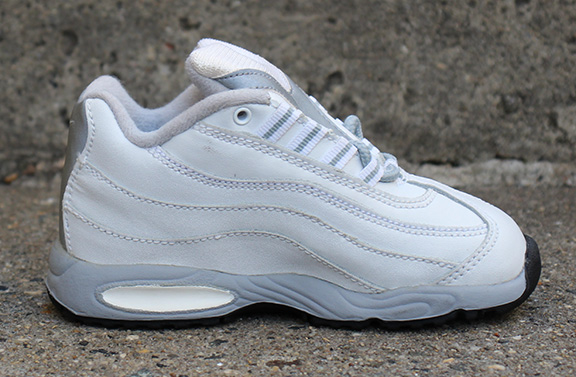 hot sale online 29406 4538e Baby Nike Air Max 95 White / Silver DS — Roots