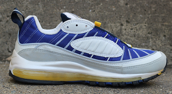 wholesale dealer c8aa2 6a3c7 Women's Nike Air Max 98 Maize / Ultramarine (Size 7.5) DS — Roots