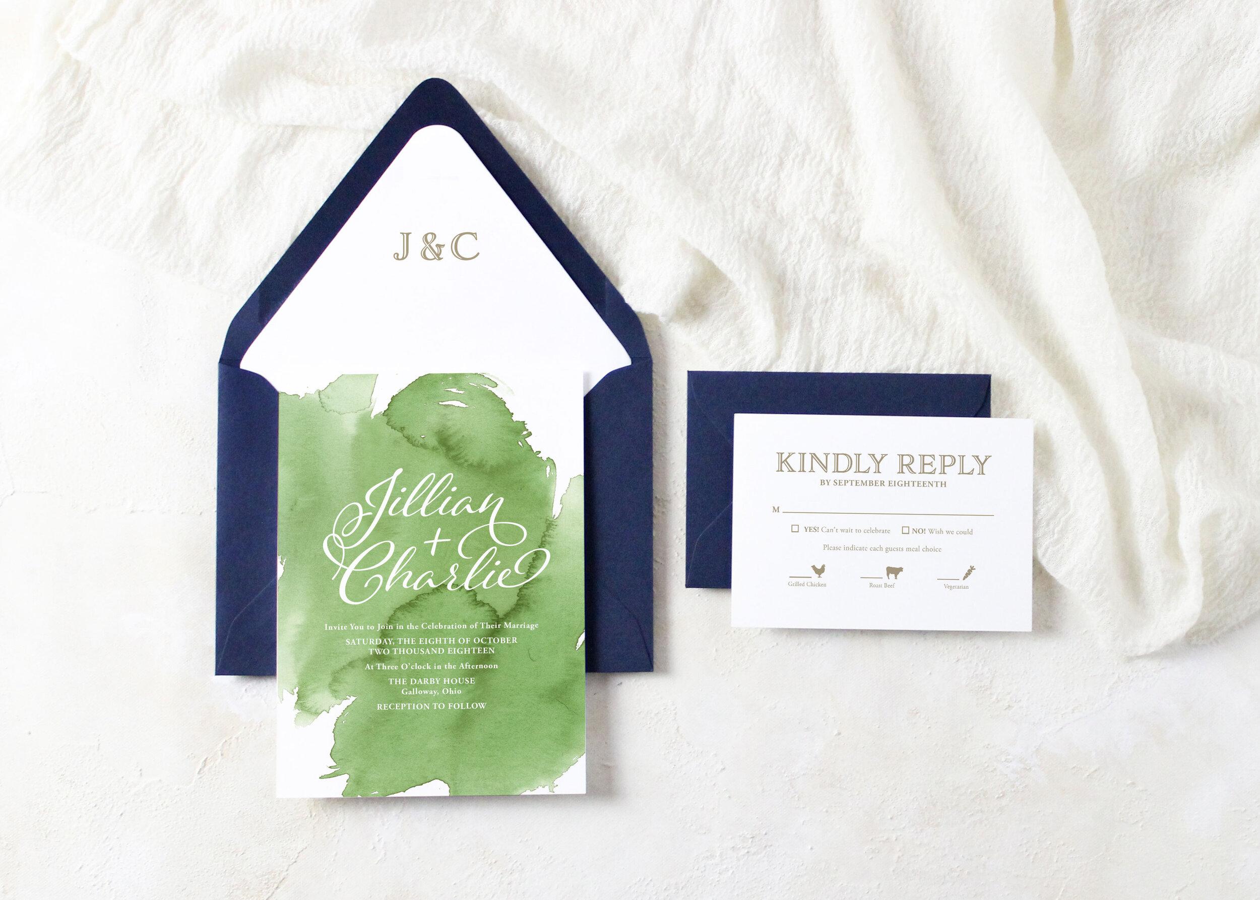 Jillian Wedding Invitation Suite Ivory House Creative