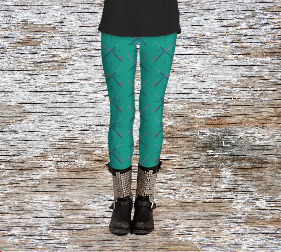 PDX Carpet // Patterned leggings