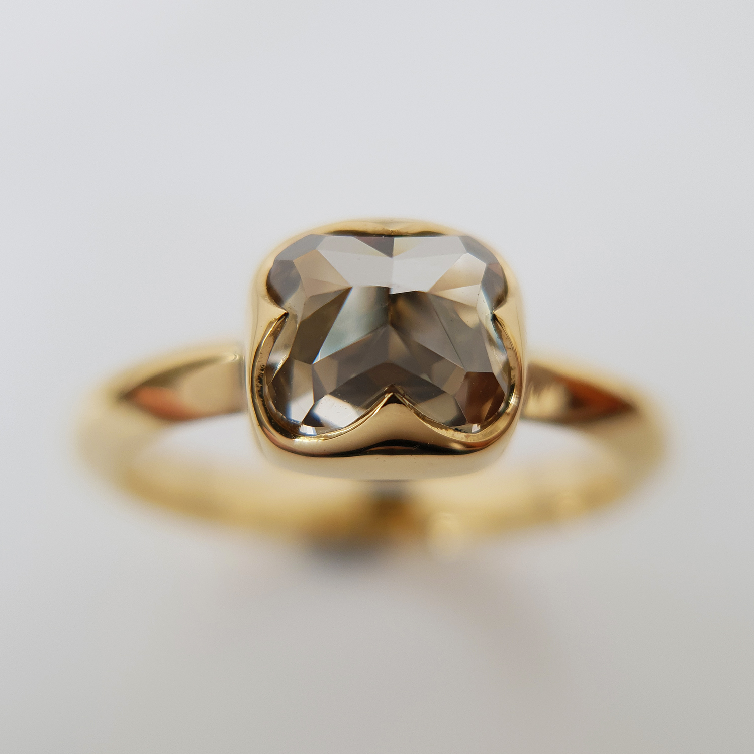 Antique Cut Champagne Diamond Fran