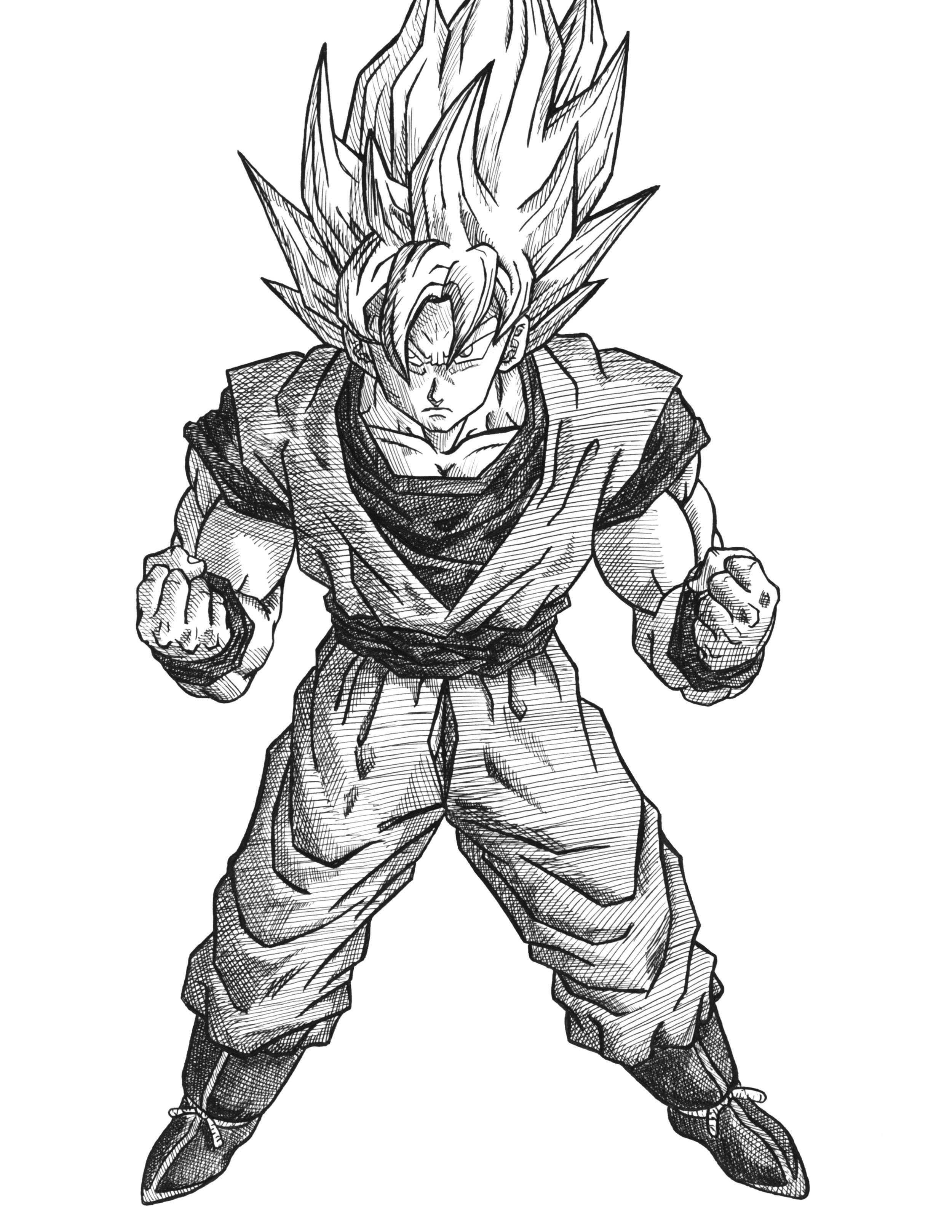 Orozco Design—Store—Dragon Ball Z Super Saiyan Goku Ink Original