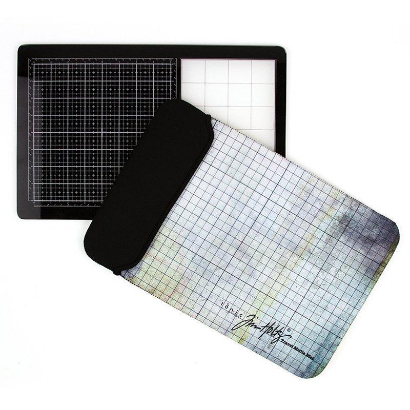 Tim Holtz /'MEDIA TOOL SET/' Edge /& Scraper Use with Glass Media Mat Tonic Studio