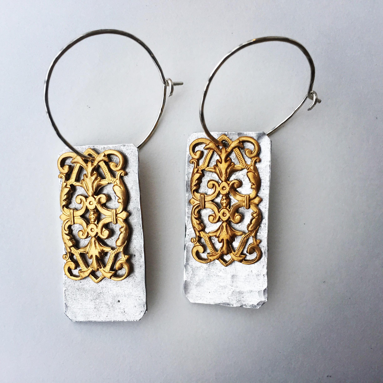 Fluff Jewelry Antique Filigree Earrings