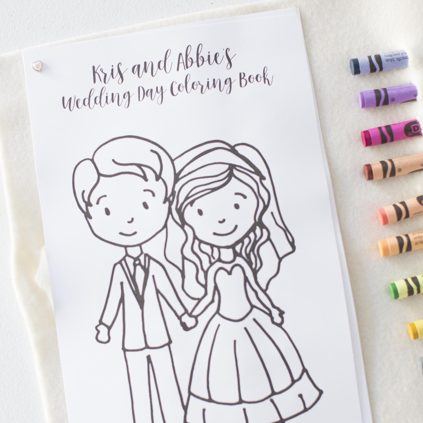 - Personalized Wedding Coloring Book — OKOTA