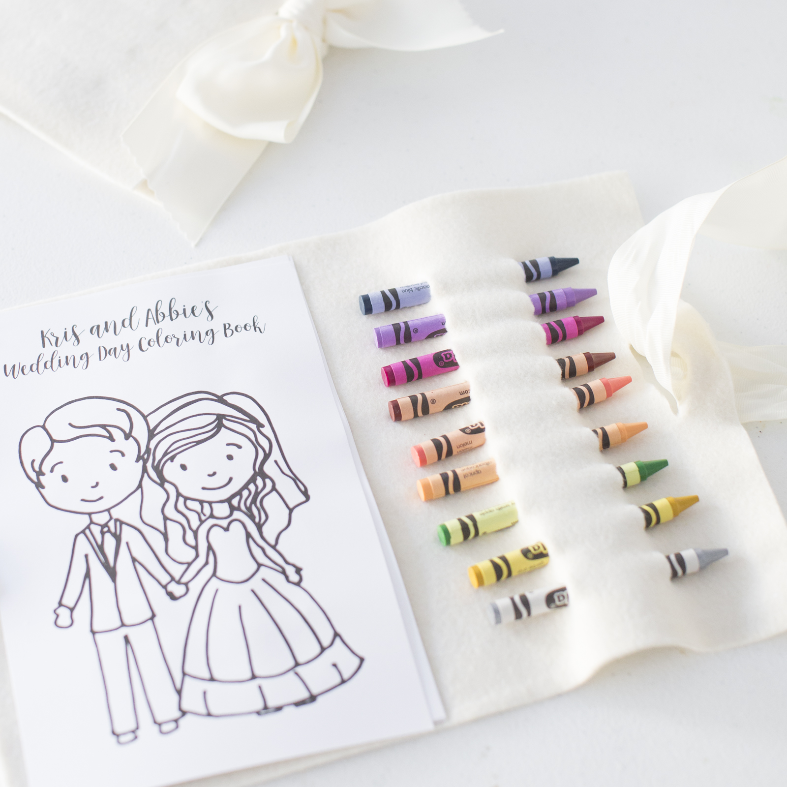 Personalized Wedding Coloring Book — OKOTA
