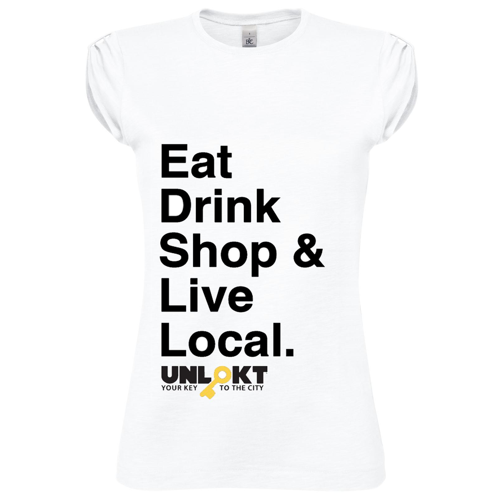 527dcba03f5af Eat, Drink, Local T-Shirt (Women's) — The UNLOKT Shop