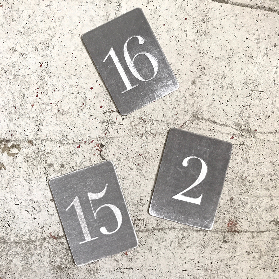 Small Table Numbers 10