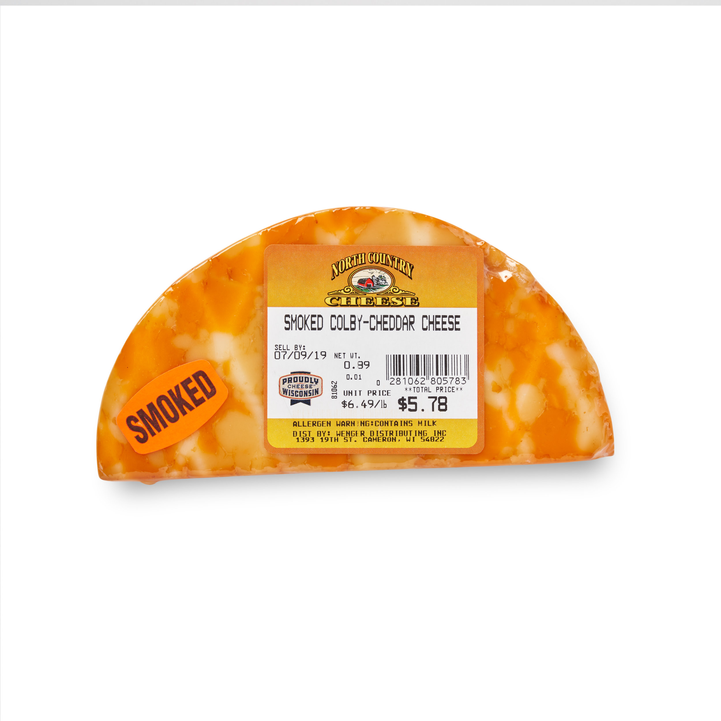 Smoked Co-Cheddar Cheese — North Country Cheese