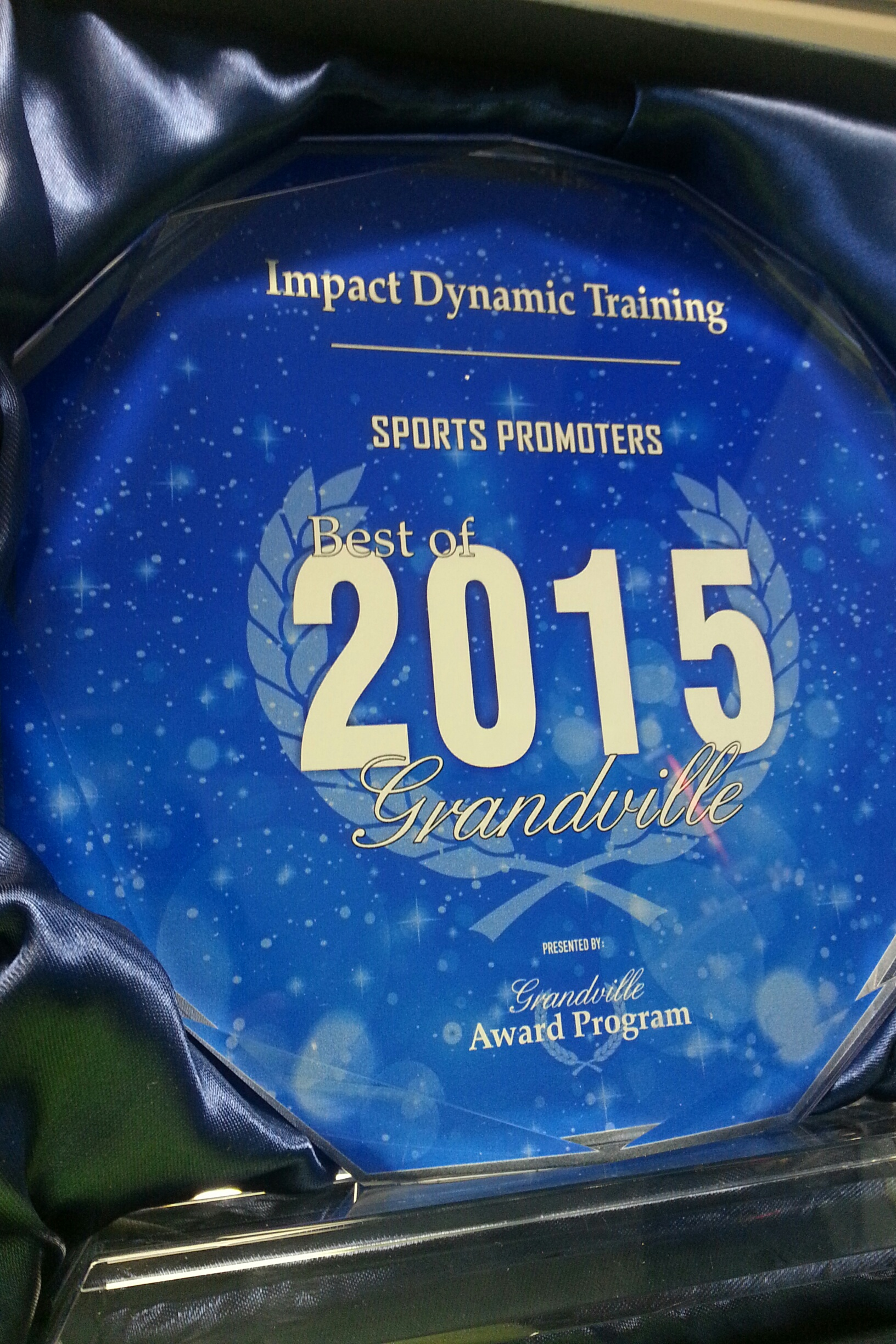 """In 2015, Impact was awarded a """"Best of Grandville"""" award for its dedication to quality"""