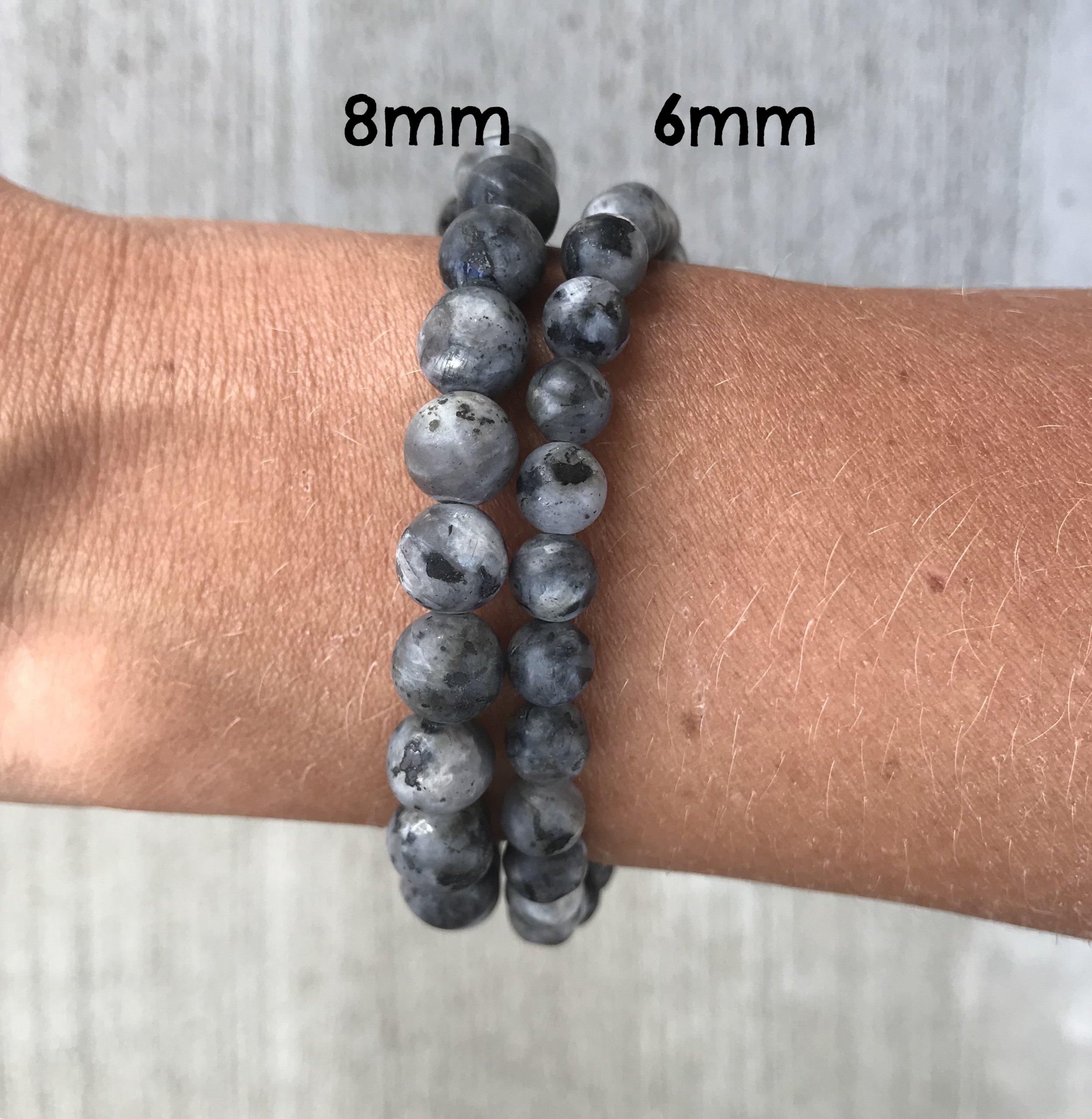 Larvikite and Lava Rock Aromatherapy Bracelet