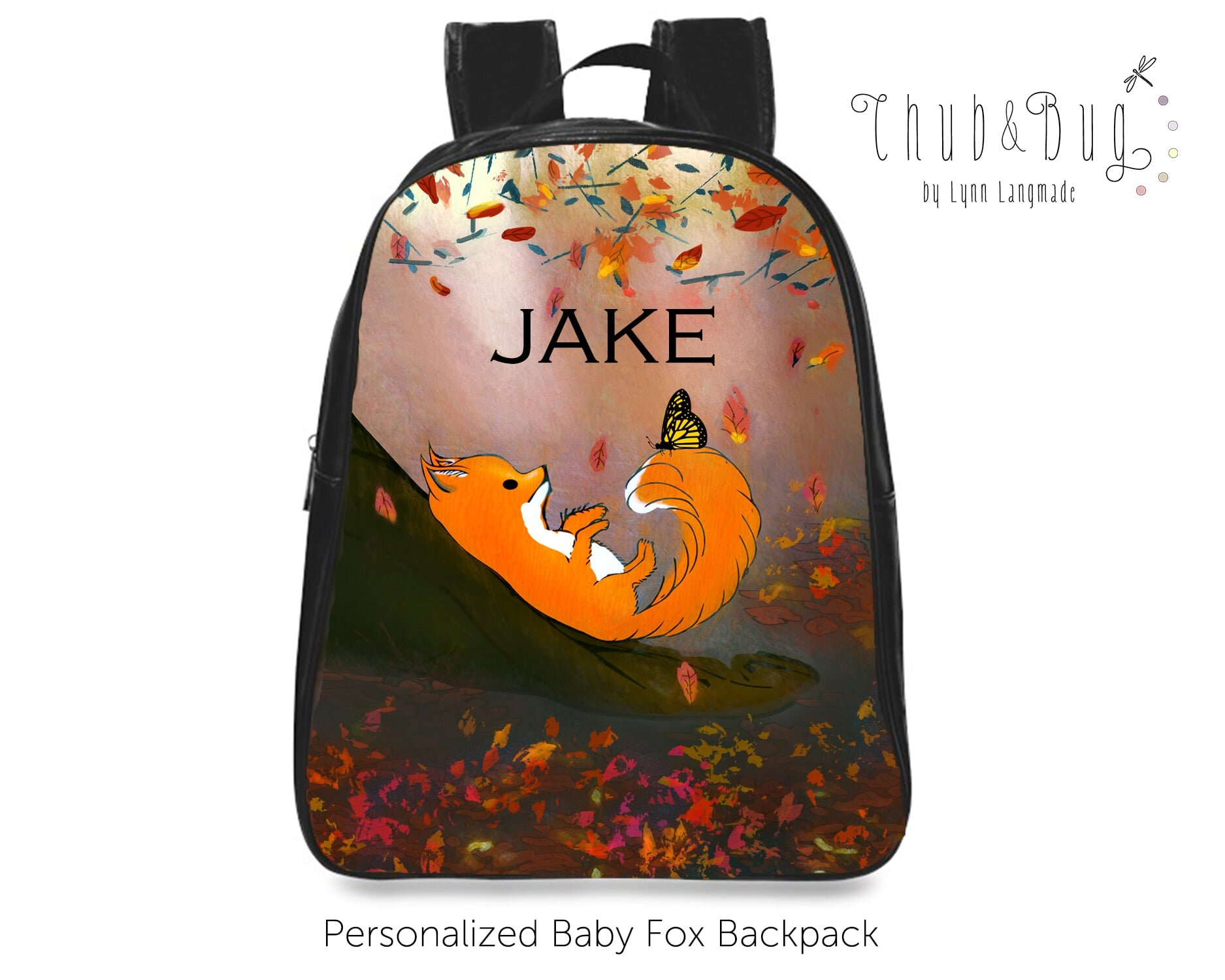 Personalized baby backpack.