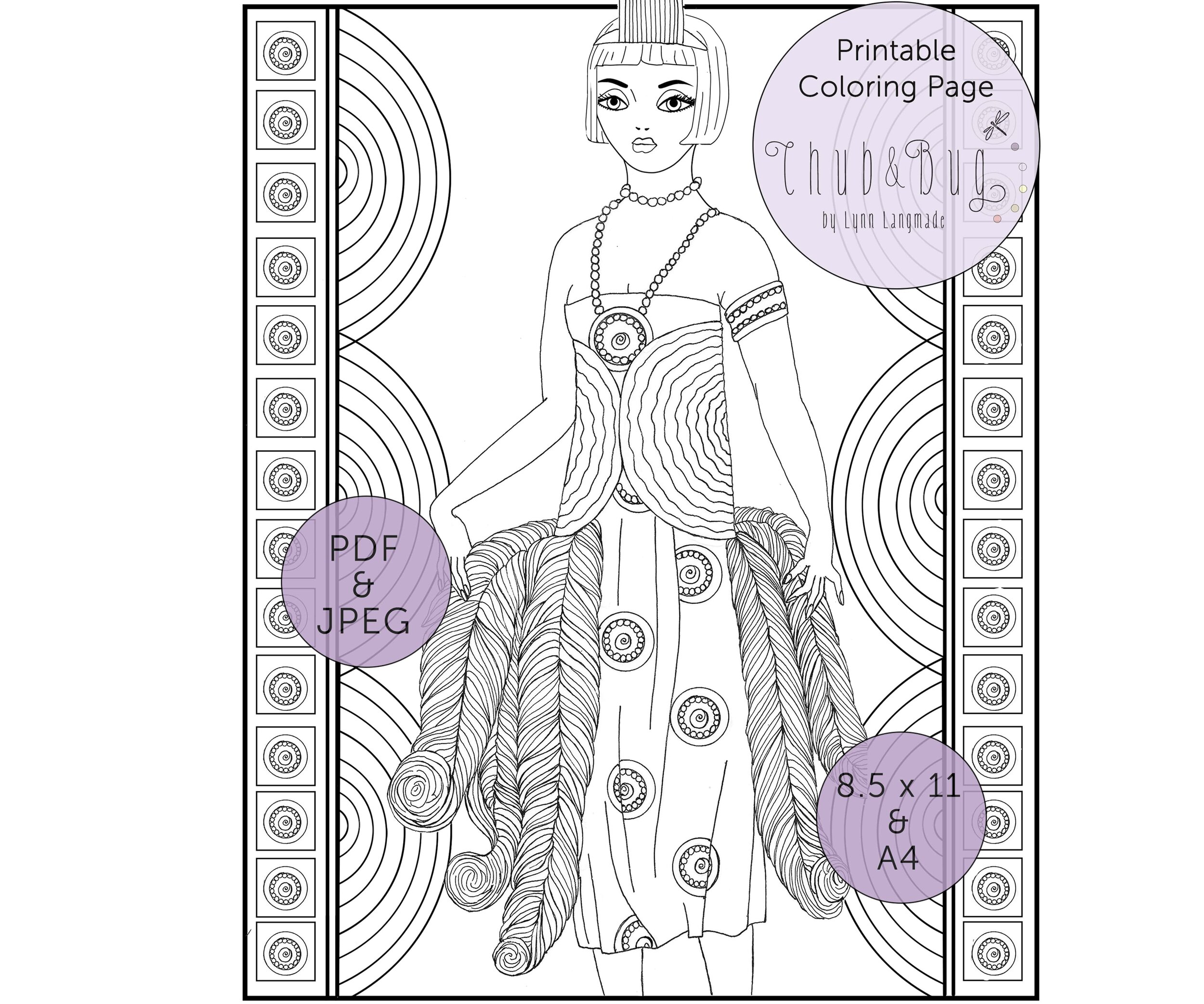 Coloring Page - Fashion gal | Coloring pages, Cute coloring pages ... | 833x1000