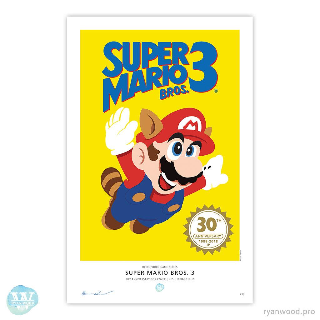 Super Mario Bros 3 30th Anniversary Japan Poster Print Ryan Wood